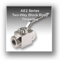 Ae2 Series Two Way Block Body Threaded Hydraulic Ball Valves - Stainless Steel