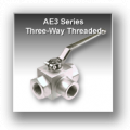 Ae3 Series Three Way Block Body Threaded Hydraulic Ball Valves - Stainless Steel