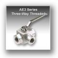 Ae3 Series Three Way Block Body Threaded Hydraulic Ball Valves - Stainless Steel