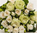 Green & White Rose Bouquet