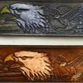Eagle Theme Leather Belt
