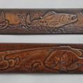 Fisherman Theme Leather Belt