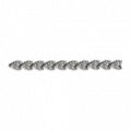 Round Diamond Chevron Eternity Bracelet