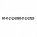 Three-Prong Round Diamond Straight Line Eternity Bracelet