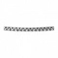 Pave-Set Round Diamond Part-Way Bangle Bracelet