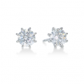 Eight-Prong Round Diamond Stud Earrings