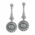 """Trellis"" Collection Earrings with Detachable Diamond Studs"