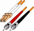 LC to ST Duplex 50 µM Multimode Fiber Optic Cable