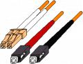 LC to SC Duplex 50 µM Multimode Fiber Optic Cable