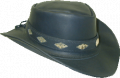 Leather Outback Hat with Snake Band