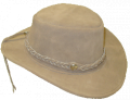 Leather Hat with Braided Band