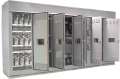 Metal enclosed capacitor banks and harmonic filter banks for substation applications