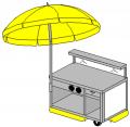 General Food Cart Model 3254 -S AMP