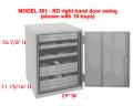 MODEL 301-LD (left hand door swing) Lane Geology and Paleontology Specimen Preservation Cabinets