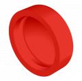 Standard Pop-On Screw Covers, Polypropylene, Red