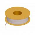 1/16 x 1/8 Flexible Tubing, 70 Shore A Vinyl Phthalate-Free, Natural