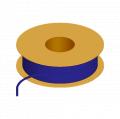 1/16 x 1/8 Flexible Tubing, 85 Shore A Polyurethane (ether), Blue Opaque