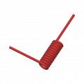 1/16 x 1/8 Coiled Flexible Tubing, 85 Shore A Polyurethane (ether), Red Opaque