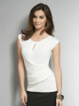 Solid Keyhole Wrap Top