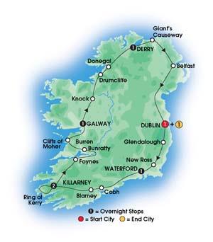Order 8 Day Irish Adventure Tour