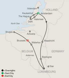 Order Holland, Belgium and Luxembourg Tour