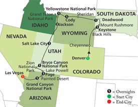 Order National Parks & Canyon Country with Wild, Wild West Tour