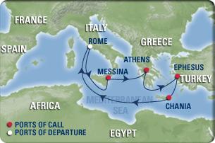Order 7 Night Eastern Mediterranean Cruise