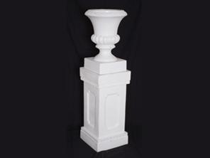Order White Plastic Urn with Column