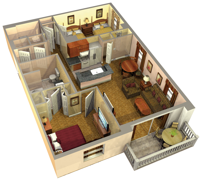 two bedroom platinum suite order at orlando usa price information