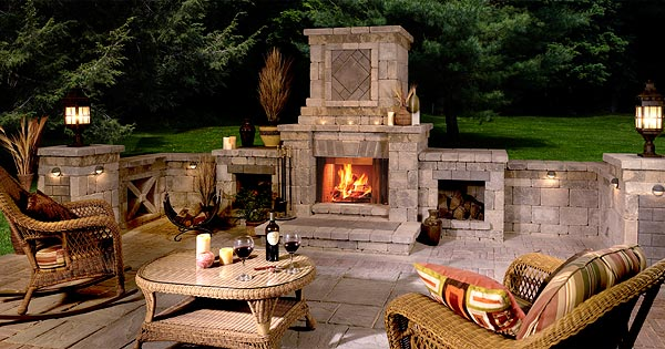 Outdoor Fireplaces; More