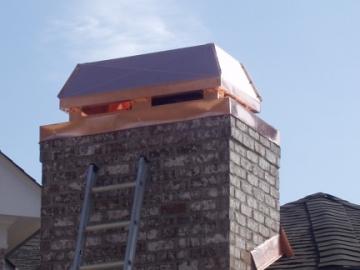 Order Chimney Cap Fabrication and Brick Sealing