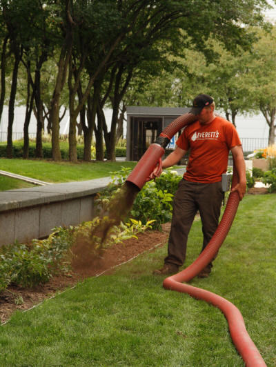 Order Bark Blowing and Mulch Installation