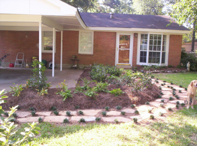 Order Pinestraw & mulch installation