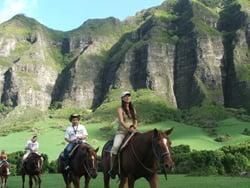 Order Kualoa Ranch Horseback Ride & Activities (All day, include lunch)