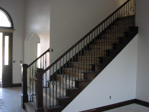 Order Wood stair rail with stair end caps