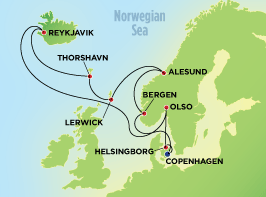 Order 12-Day Norway, Iceland, & Faroe Islands from Copenhagen Cruise