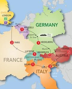 Order Europe & Britain 2013: European Marvel with Eurostar 2013 Tour