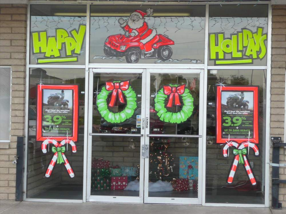 Order Holiday Window Painting