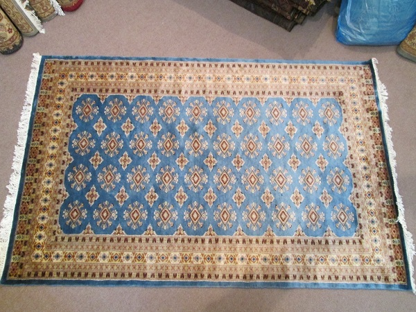 Handmade Persian Jaldar Blue Rectangle