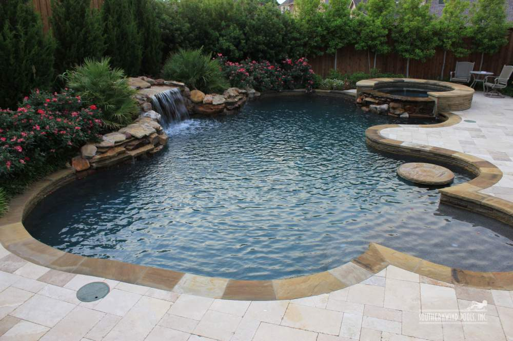 Natural / Free Form Style Pools order in Dallas on English
