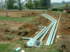 Repair existing sewage