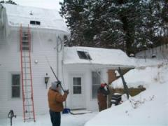 Roof Snow and Ice Dam Removal