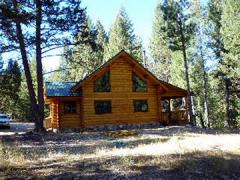 Handpeeled 8 inch log home on 5.5 acres with 2