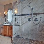 Bent shower panel