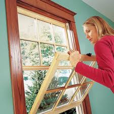 Installing new and old windows.