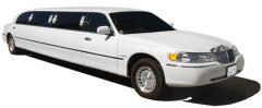 Lincoln Towncar streetch limousine white color