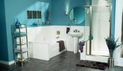 Фото ванная комната дизайн без плитки с зеркалами