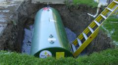 Storage tank removal and installation