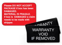 Custom Printing of a Tamperproof Label for the