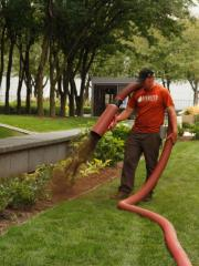 Bark Blowing and Mulch Installation